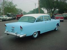 Chevrolet Bel Air - 1955 MY VERY FIRST CAR WAS EXACTLY LIKE THIS ONE. MY DAD BOUGHT A 62 NOVA AND GAVE ME ONE LIKE THIS.