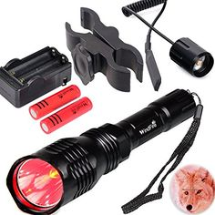 WindFire WF802 Waterproof 350 Lumens 250 Yards Red Cree LED Coyote Hog Fox Predator Varmint Hunting Light Kits with Remote Pressure Switch & Scope/Bike Mount Holder & Spare 18650 Battery and Charger For Sale https://besttacticalflashlightreviews.info/windfire-wf802-waterproof-350-lumens-250-yards-red-cree-led-coyote-hog-fox-predator-varmint-hunting-light-kits-with-remote-pressure-switch-scopebike-mount-holder-spare-18650-battery-and-charger-f/