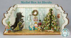 Diorama Cascanueces (Nutcracker) cookie 3D royal icing pintado a mano