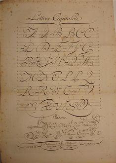 BIBLIOTYPES: Paillasson, Charles: Caligrafía francesa del s. XVIII