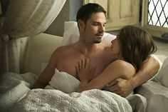 Pin for Later: 37 Shirtless TV Moments From 2016 That You Need to See Again Beauty and the Beast Vincent (Jay Ryan) and Catherine (Kristen Kreuk) enjoy some much-needed R&R after their wedding.