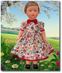 Vêtement MODES ET TRAVAUX mars 1951 pour poupée 40 cm, Marie-Françoise et autres