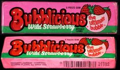 Bubblicious - Wild Strawberry - bubble gum pack - late 1980's early 1990's by JasonLiebig, via Flickr