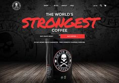 Death Wish Coffee Company - Website of the Day - 25 September 2015 http://www.csswinner.com/details/death-wish-coffee-company/9821