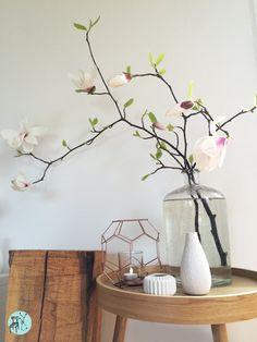 Magnolienzweige im #Frühling in schlichter Glasvase. Schlicht und schön...
