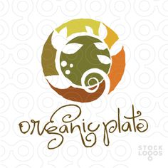 The logo looks dated, but I like the colors. Logo Circulaire, Logo Branding, Branding Design, Restaurant Logo Design, Clever Logo, Farm Logo, Organic Logo, Make Your Own Logo, Seal Design