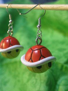 Aretes de tortuga de Mario bros