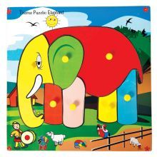 Skillofun Theme Puzzle Standard (With Knobs) Elephant