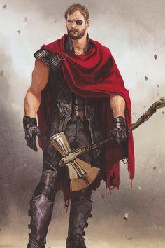 Thor Odinson of Asgard Marvel Concept Art, Marvel Art, Marvel Dc Comics, Marvel Heroes, Anime Comics, Marvel Avengers, Comic Collage, Asgard, Marvel Drawings