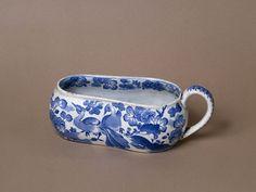 Bourdalon, or female urinal (chamber pot), English, c 1805 - Spode china.