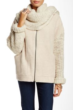 Sweater Scarf Jacket by Free People on @nordstrom_rack