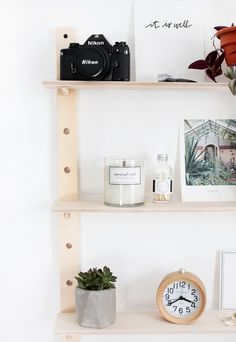 DIY Peg Shelf @theme