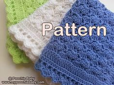 Easy and affordable gift for a new baby! Make this blanket with one skein of 7oz yarn. PDF crochet pattern.