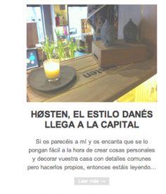 """Laura Jiménez, conocida por su blog Mix and Match ha visitado nuestra tienda en Goya 48 y ha escrito un post precioso sobre Høsten que empieza así """"Si os parecéis a mi y os encanta que se lo pongan fácil a la hora de crear cosas personales y decorar vuestra casa con detalles comunes pero hacerlos propios…"""