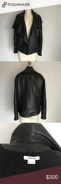 Helmet Lang leather jacket Great condition. Lamb leather. Helmut Lang Jackets & Coats