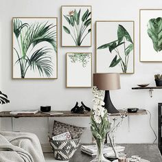 Cheap picture for living room, Buy Quality canvas painting directly from China art poster Suppliers: Watercolor Green Plants Leaves Canvas Paintings Nordic Scandinavian Office Wall Art Poster Picture for Living Room Home Decor Frames On Wall, Framed Wall Art, Wall Canvas, Canvas Art, Leaf Wall Art, Metal Tree Wall Art, Leaf Art, Office Wall Art, Office Walls
