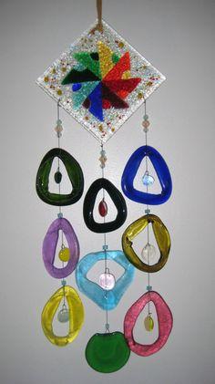 Pinwheel - Fused Glass Wind Chimes