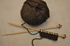 Bamboo (chinese sticks) as Knitting Needles (nice priceless idea if you want to teach a bunch of kids at the same time)