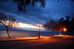 Sunset in Corinthiakos gulf, Phokis, Greece.