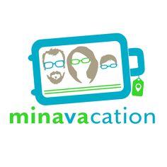Logo designed by Minava Design for a family of three starting a travel blog at www.minavacation.com