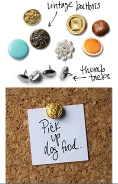 Vintage buttons would make some killer push pins & magnets!