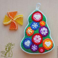 Купить Новогодний сувенир. Мармеладная елочка - ярко-зелёный, авторский мастер-класс, авторская игрушка