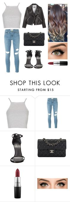 """Unbenannt #70"" by ginger-01 on Polyvore featuring Mode, Topshop, Frame Denim, Stuart Weitzman, Chanel und MAC Cosmetics"