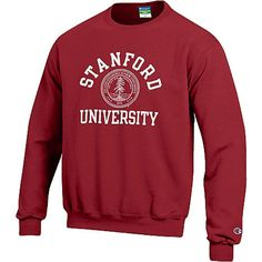Stanford university crewneck sweatshirt stanford university want. School Outfits Tumblr, School Outfits For College, Summer School Outfits, College T Shirts, School Shirts, College Apparel, College Sweatshirts, University Outfit, University Style