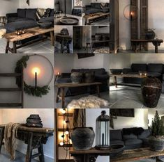 Collage best Sober rustic interieur – Health and wellness: What comes naturally Colour Combinations Interior, Scandinavian Home Interiors, Deco Design, Home And Deco, Living Room Inspiration, Home Staging, New Room, Beautiful Interiors, Interior Design Living Room