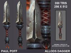 Allods Dagger Fan Art, Paul Poff on ArtStation at http://www.artstation.com/artwork/allods-dagger-fan-art