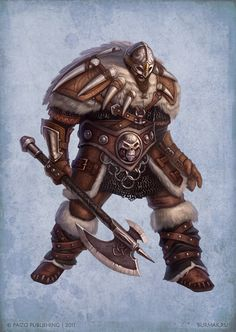 Paizo char - Raider by DevBurmak on DeviantArt