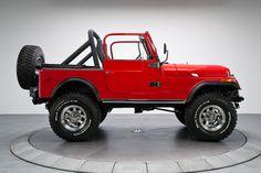 Red 1980 Jeep CJ 7