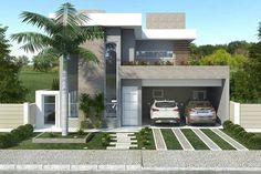 Beautiful modern home design. Architectural design is a concept that focuses on components or elements of a structure. Modern House Plans, Modern House Design, Modern Exterior, Exterior Design, Style At Home, Bungalow Haus Design, Beautiful Modern Homes, House Elevation, Facade House