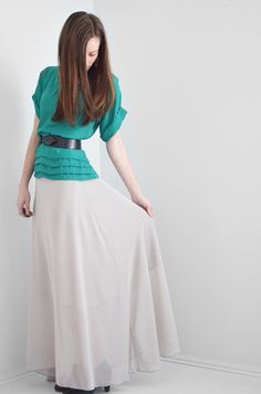 Chiffon Maxi Skirt Tutorial - 8 Sewing  Tutorials and Patterns for Sewing your own Spring Wardrobe