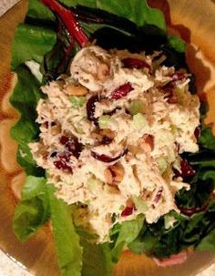 Low-Carb Meal Idea: Cranberry Walnut Chicken Salad, steamed or raw broccoli and cheese toast (on low-carb bread).