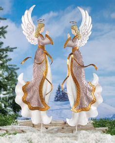 Christmas Angel Garden Stake Decor