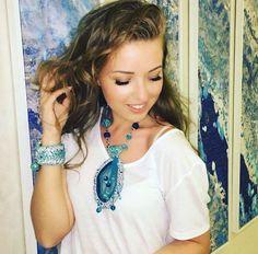 Exclusive crochet jewelery by AurimDesign Bracelet Crochet, Set Fashion, Jewelry Sets, Unique Jewelry, Turquoise Necklace, Jewelery, Etsy Seller, Jewelry Design, Drop Earrings