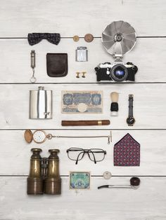 SM25 -  geometric - menswear - studio (Still life shoot. Vintage mens items.)