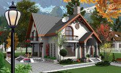 Case frumoase. 3 proiecte cu o arhitectura speciala, pentru o locuinta de vis Cottage House Designs, Bungalow House Design, House Front Design, Cottage Style Homes, Small House Design, Dream Home Design, House Architecture Styles, House Design Pictures, House Construction Plan