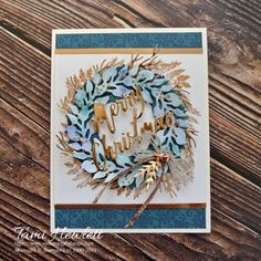 Get inspiration for beginner, casual, and avid crafters using the Brightly Gleaming Suite of products. I featured Tidings All-Around stamps. Company Christmas Cards, Stamped Christmas Cards, Stampin Up Christmas, Christmas Cards To Make, Retro Christmas, Christmas Tag, Christmas Themes, Handmade Christmas, Xmas