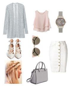 """""""Pastel colors"""" by apostolic-gal ❤ liked on Polyvore featuring Current/Elliott, Chicwish, Rebecca Taylor, Fendi, Gianvito Rossi, MICHAEL Michael Kors and Olivia Burton"""