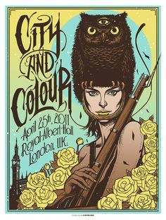 Concert Poster/City and Colour, 2011