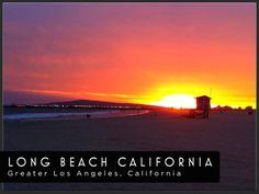 Long Beach at sunset - gorgeous!