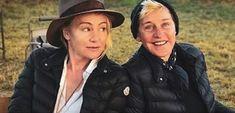 Ellen Degeneres And Portia, Ellen And Portia, Portia De Rossi, Idol, Celebrities, Quotes, Style, Quotations, Swag