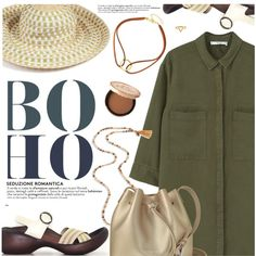 Boho Style by regettacanoe on Polyvore featuring MANGO, Lancaster, Chan Luu, ChloBo, Missoni Mare, Too Faced Cosmetics, polyvoreeditorial and polyvoreset