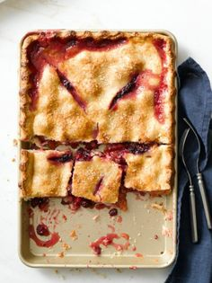Gingered Peach-Blackberry Slab Pie #OH.... I love this!#