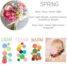 bridesmaid spring-palette from http://beingthebridesmaid.com/2014/03/21/colours-bridesmaids-skin-tone/