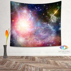 Galaxy Tapestry, Stars of a planet wall tapestry, Galaxy tapestry wall hanging, Stars galaxy wall tapestries, Galaxy home decor, Space wall art print, Space wall hanging, free space multicolor nebula galaxy wall art