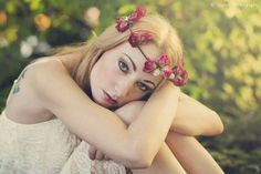 Michelle Beth styled our sweet red & ivory rose flower crown for her latest photoshoot! #bohemian #summer #love