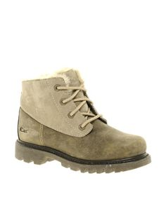 Caterpillar Ponty Lace Up Taupe Ankle Boots